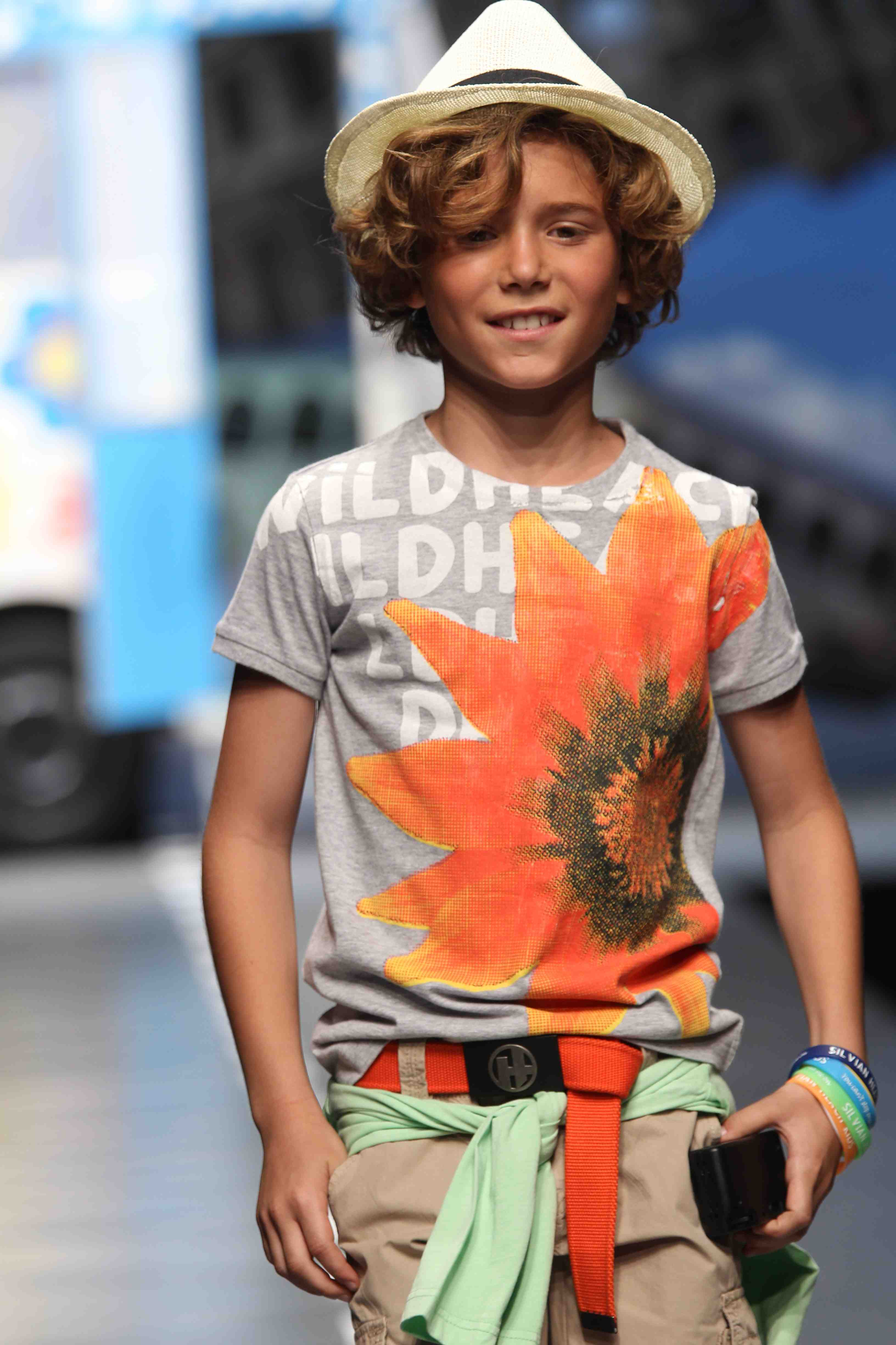 Silvian Heach Kids cool flower print boy's T-shirt for summer 2012