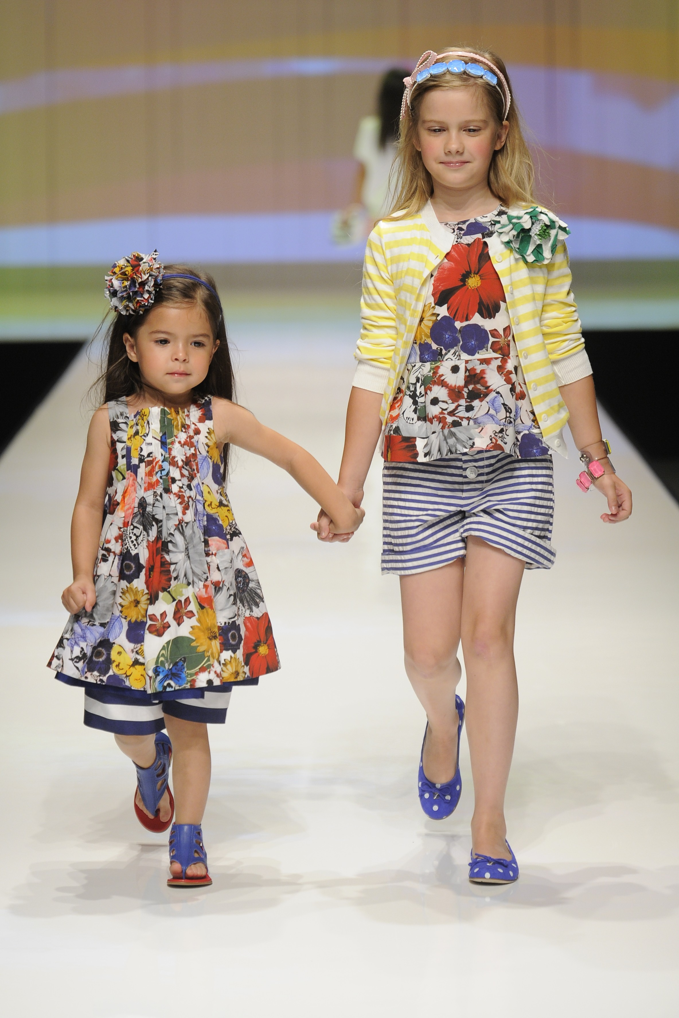 Stripe and floral mix at Simonetta for kids fashion summer 2012