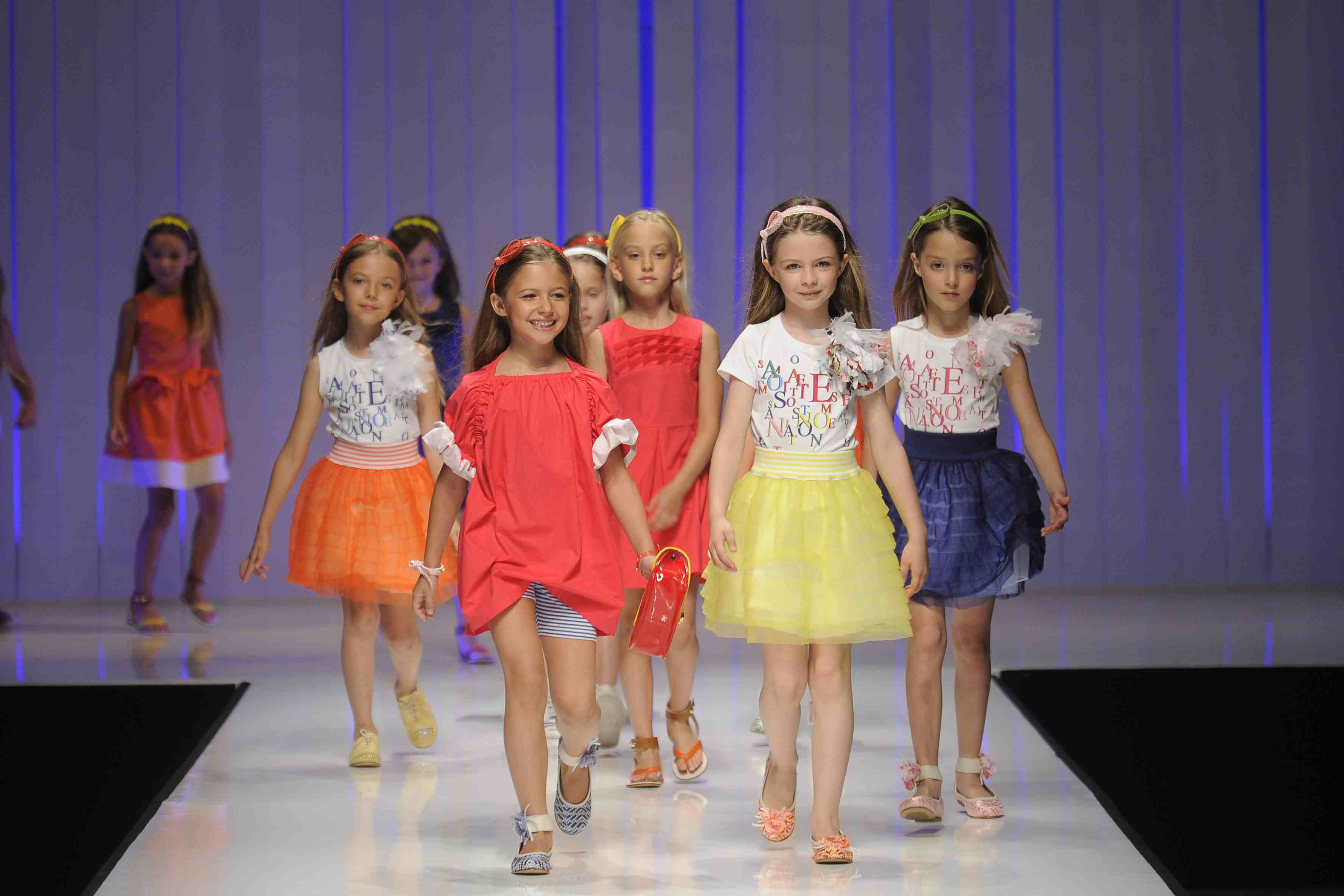 Super vibrant colour at Simonetta for summer 2012 girlswear