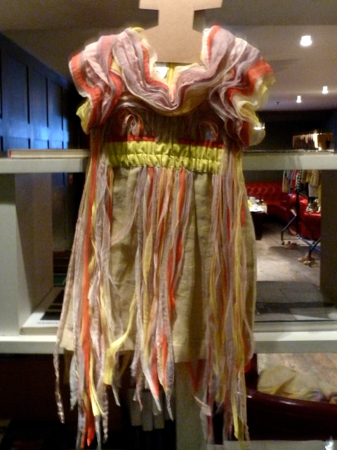 Beautiful shredded dress from Kicokids for summer 2012 childrenswear