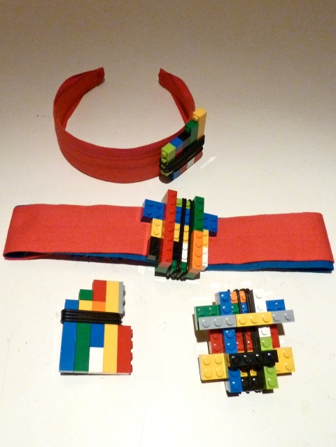 Lego jewellery and headbands at Kicokids for summer 2012