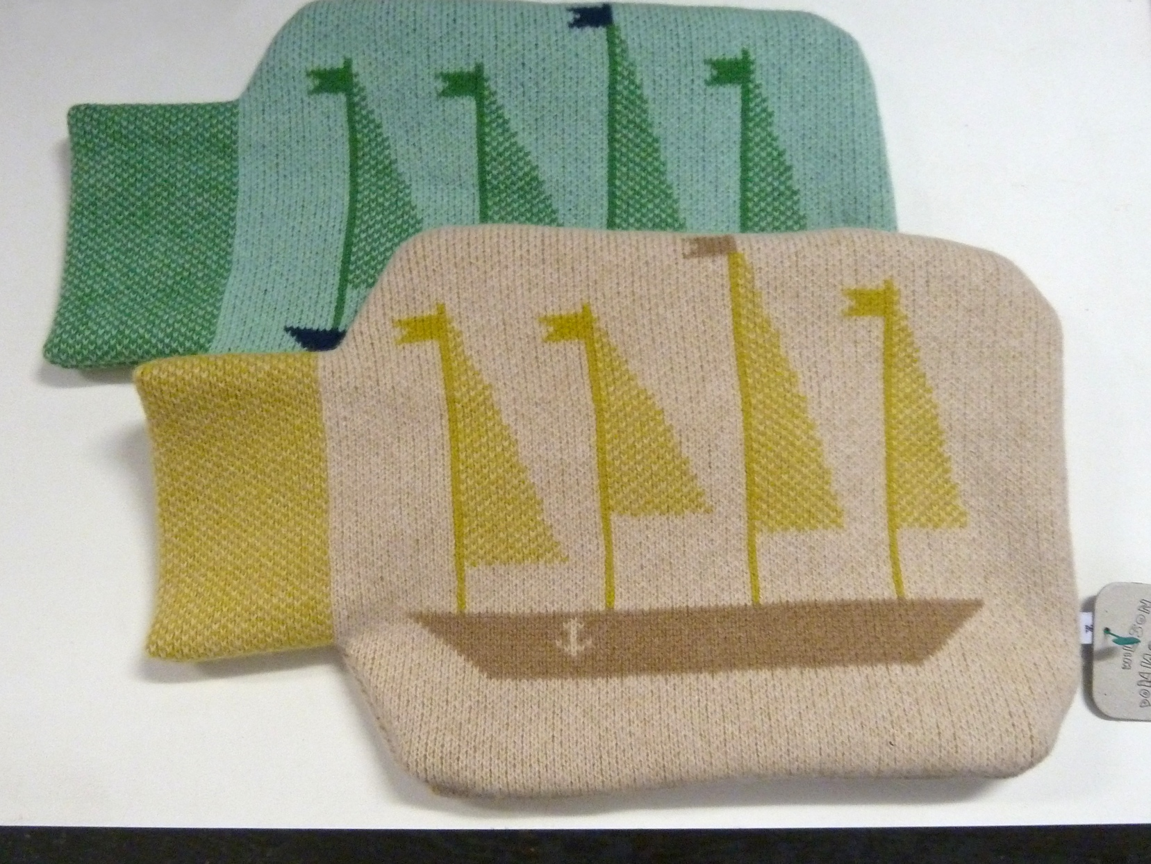 ' Ship in a bottle' hot water bottle covers from Donna Wilson for winter 2011