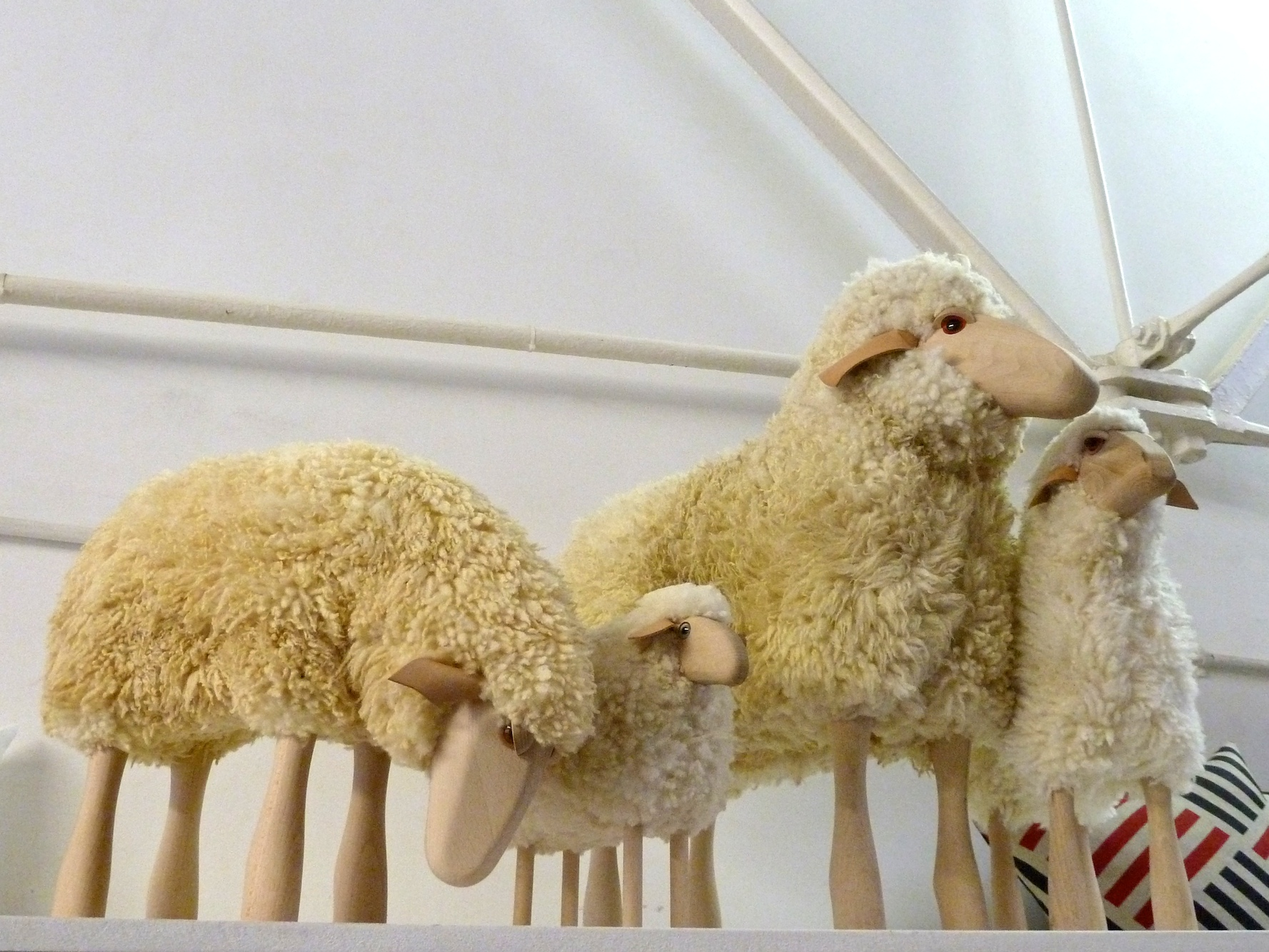 Wonderful sit on woolly sheep selection by Hanns-Peter Krafft at Theo online store