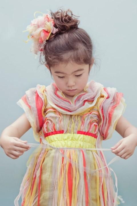 Kico Kids gorgeous ruffled pleat chiffon dress for girlswear summer 2012