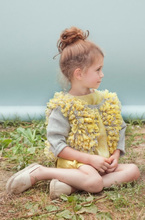 Kico Kids summer 2012 rag loopy knit top for girls