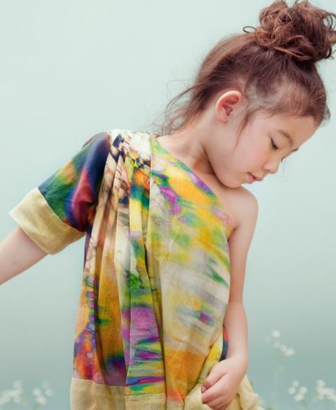 Kico kids summer 2012 rainbow print dress