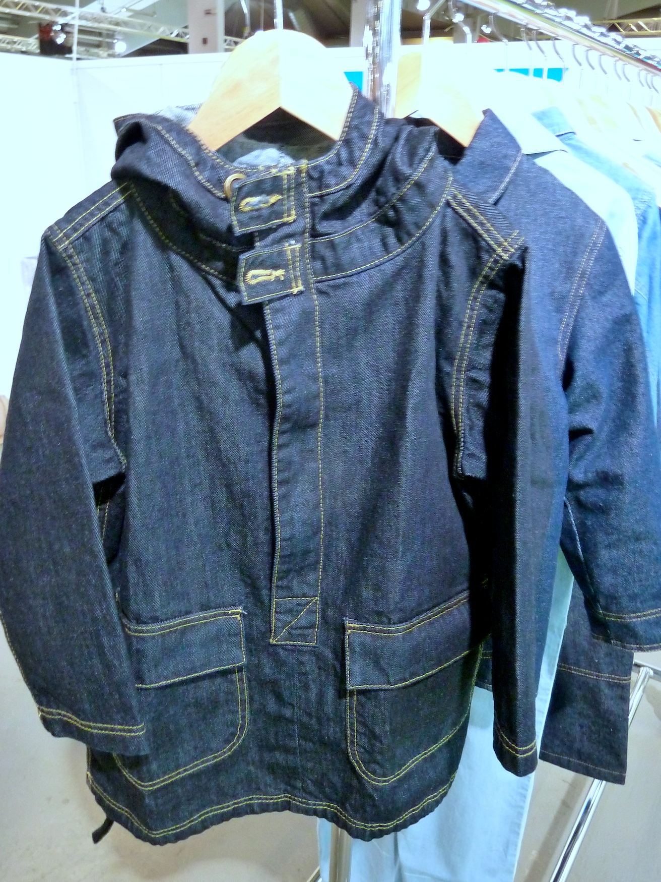 Organic denim inspired by workwear from new label BLUBLU at Ciff Kids for summer 2012
