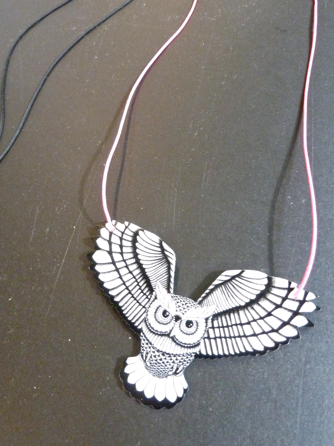 Striking owl pendant from Paper Wings for kidswear summer 2012