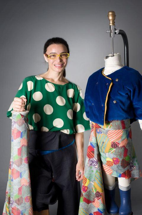 Kicokids founder Tia Cibani with Kicokids designs for Anthropologie winter 2011