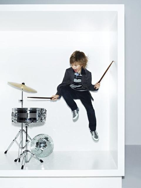Armani Junior boys rock star wear for winter 2011