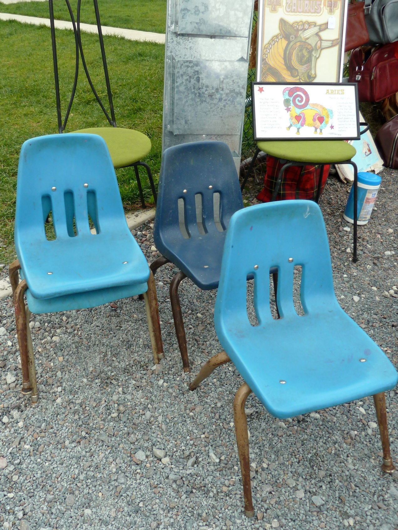 Kids chairs at Brooklyn Flea market