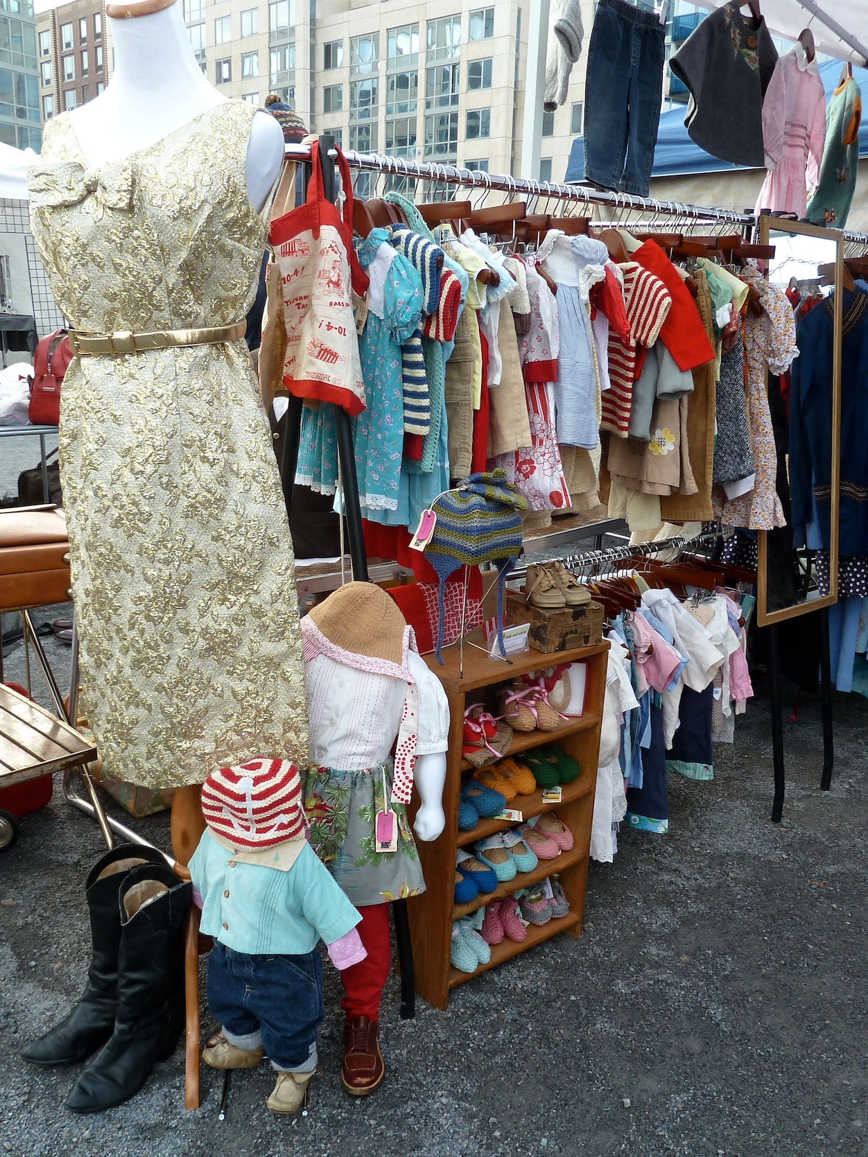 Children's fashion by Dolls and Robots, vintage and remade items at Brooklyn Flea