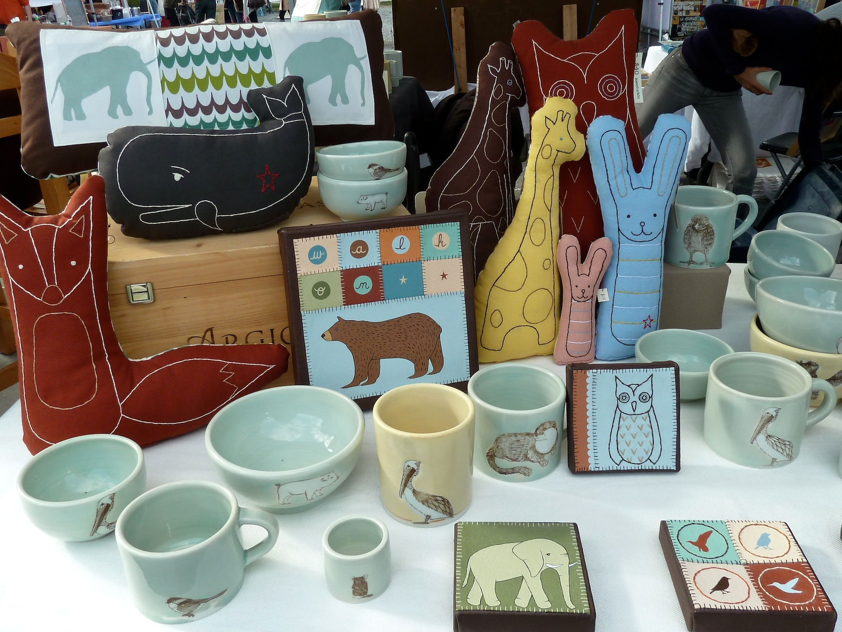 Kate Durkin soft kids toys, pillows,and artwork at Brooklyn Flea