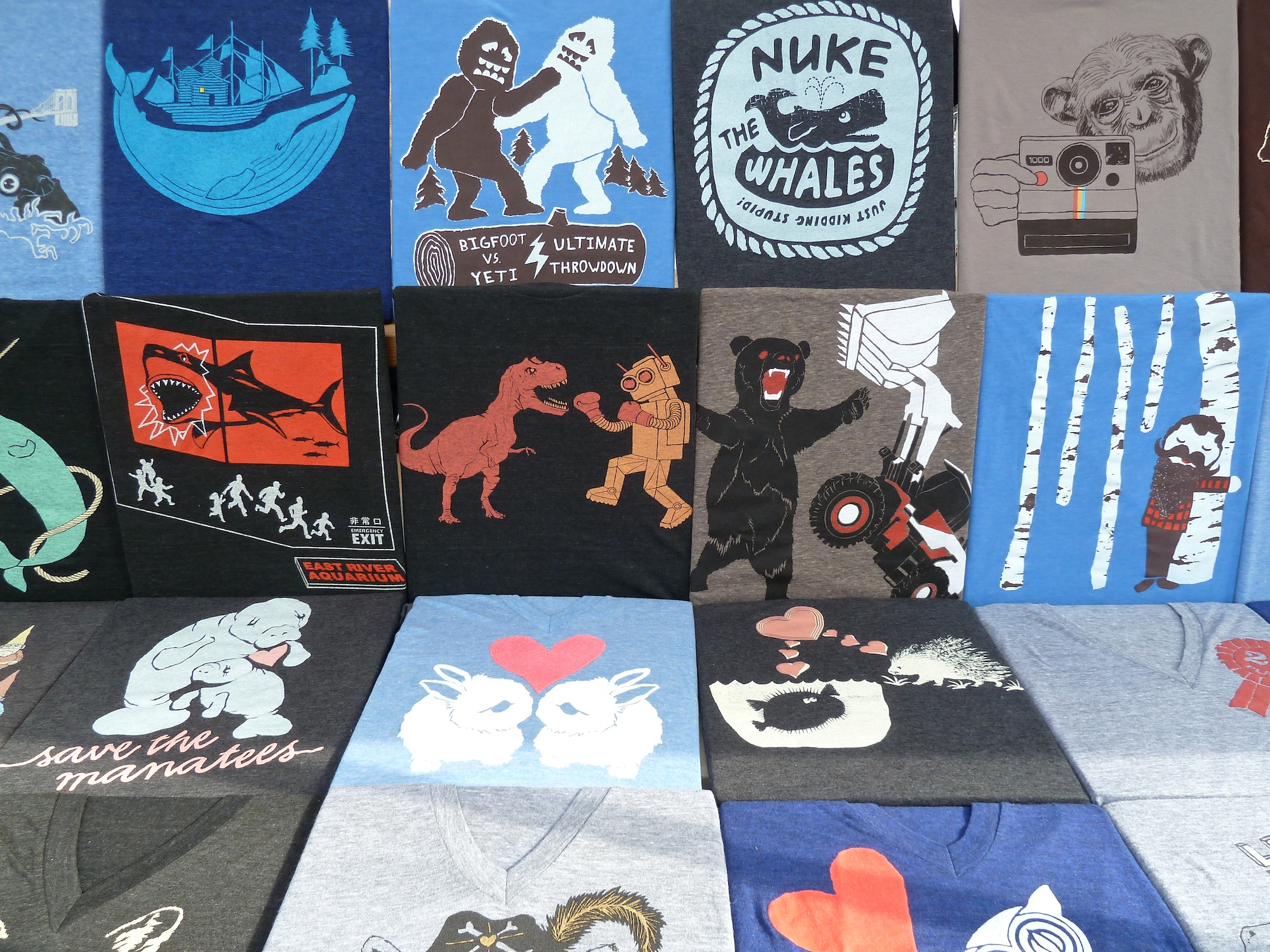 Cool T-Shirts from Gnome Enterprises for kids and adults at Brooklyn Flea market