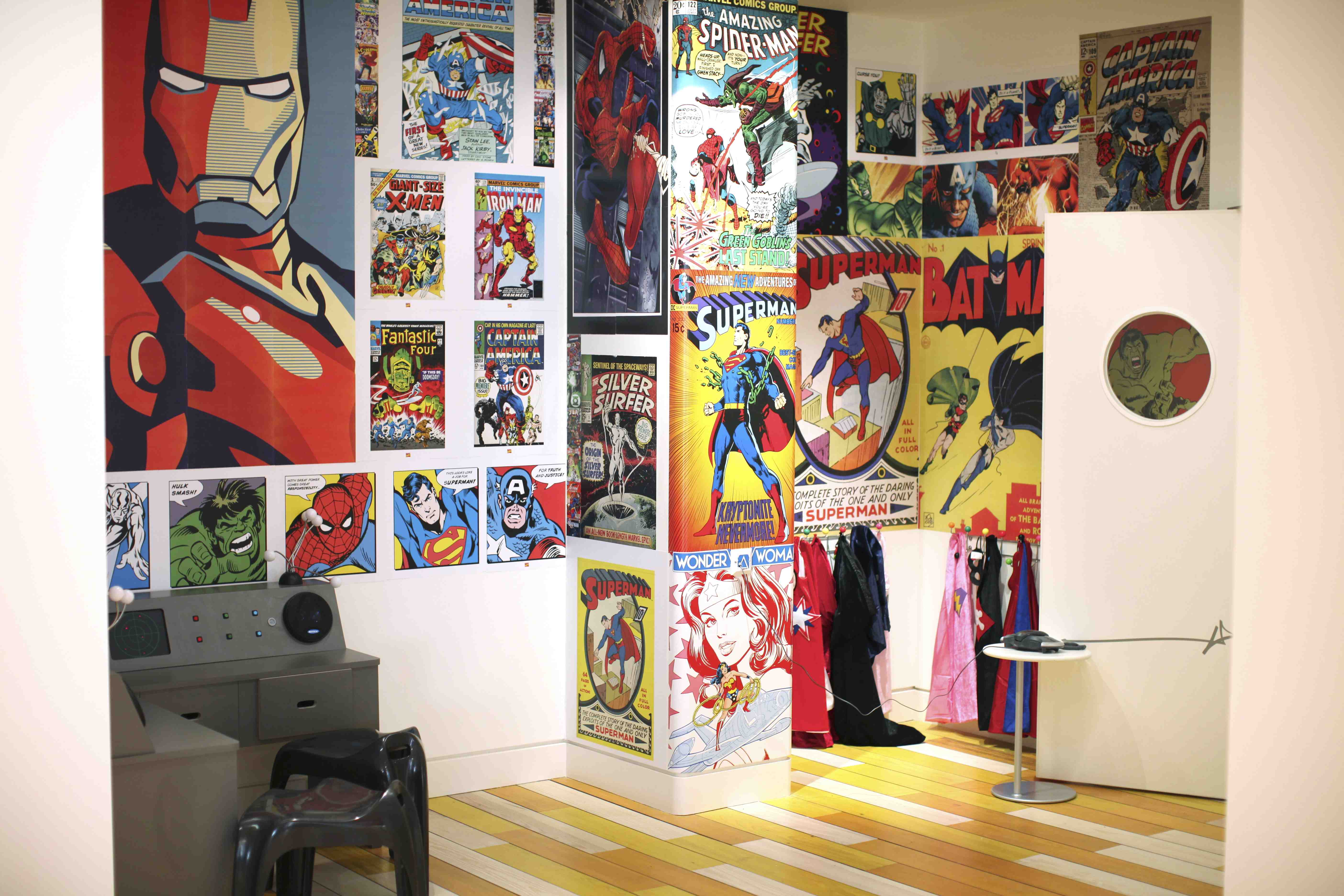 Superheroes HQ at Purple Dragon Chelsea