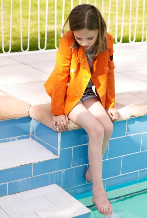 Finger in The Nose vivid orange heavy cotton jacket for kids summer 2012