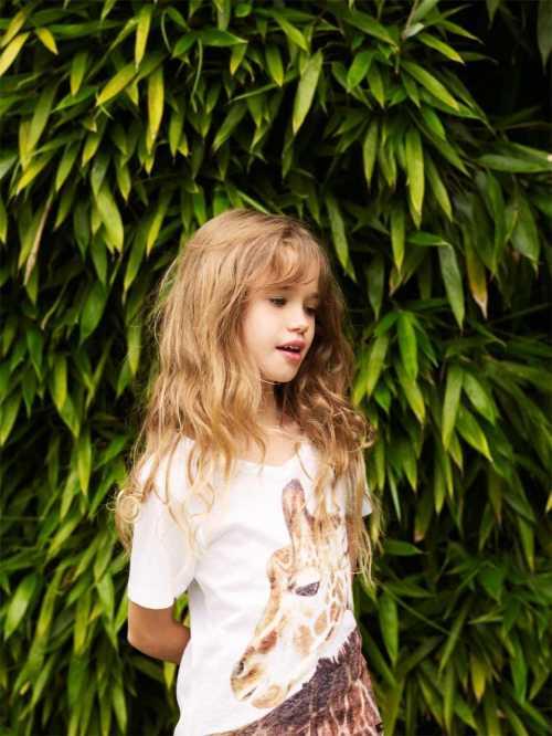 Finger in The Nose Giraffe portrait T-shirt for kids summer 2012