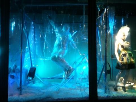 Harvey Nichols Frozen Christmas windows 2011