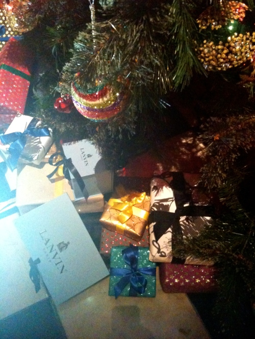 Oh, those Lanvin presents under the tree!