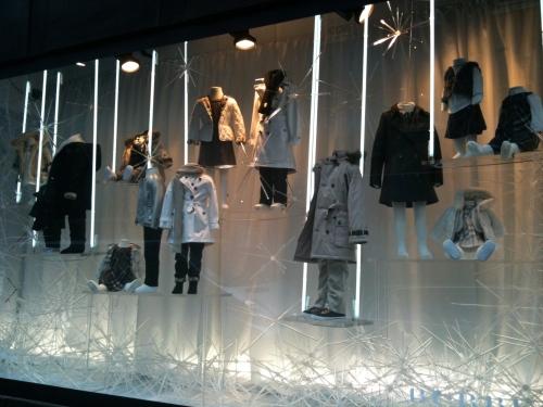 Selfridges Burberry kids fashion window on Duke St