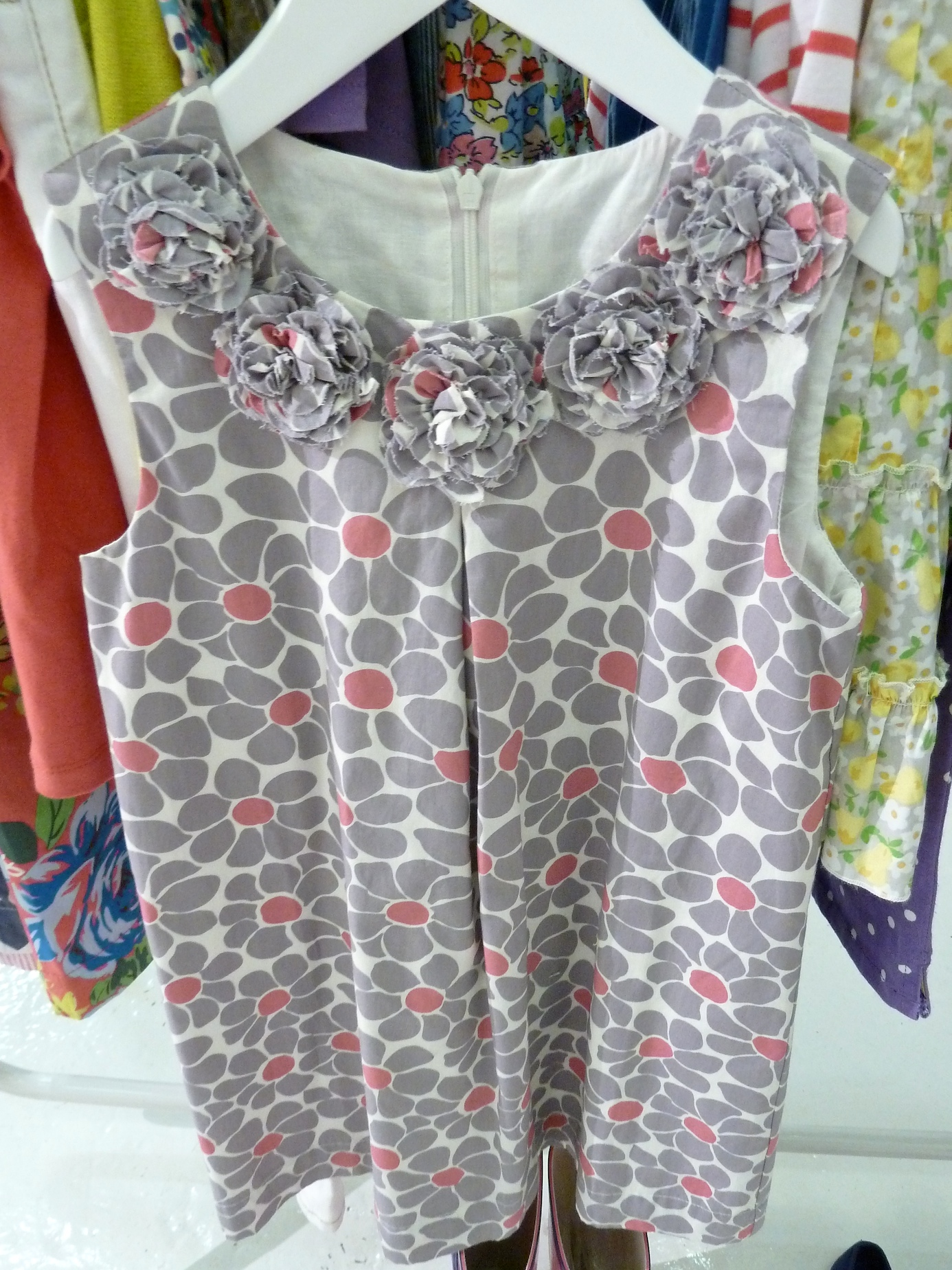 Frayed decoration at necklines too in girlswear at Mini Boden for summer 2012