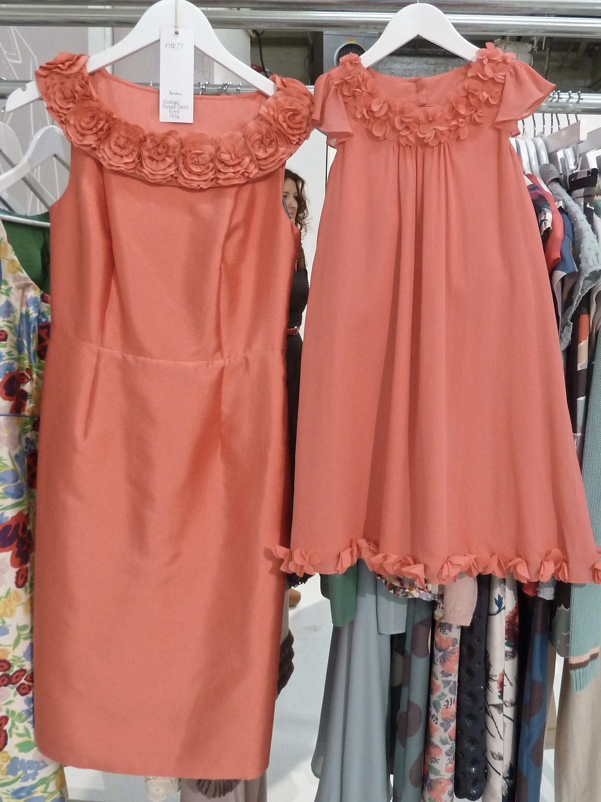 Co-ordinating dresses from the special occasion collection at Boden for adult and children