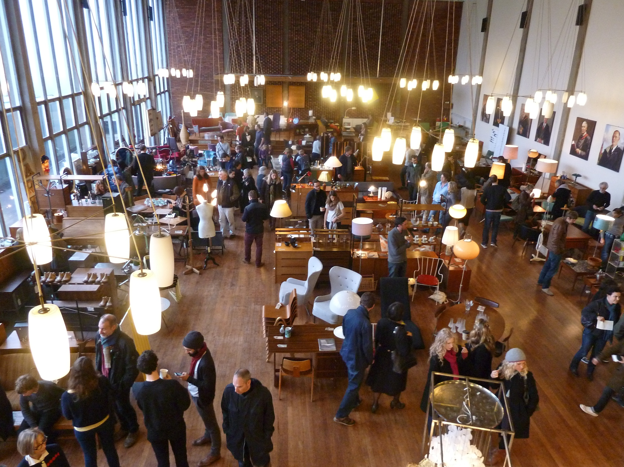 The main hall at Midcentury Modern in Dulwich College