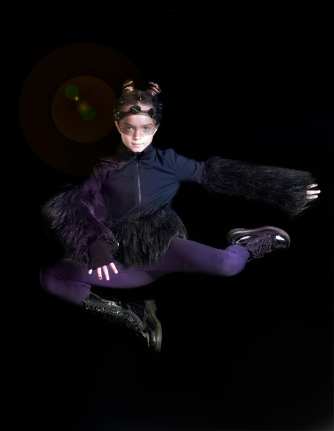 Callie as Catwoman, children's fashion story by Mindi Smith and Drew Sackheim Oct 2011