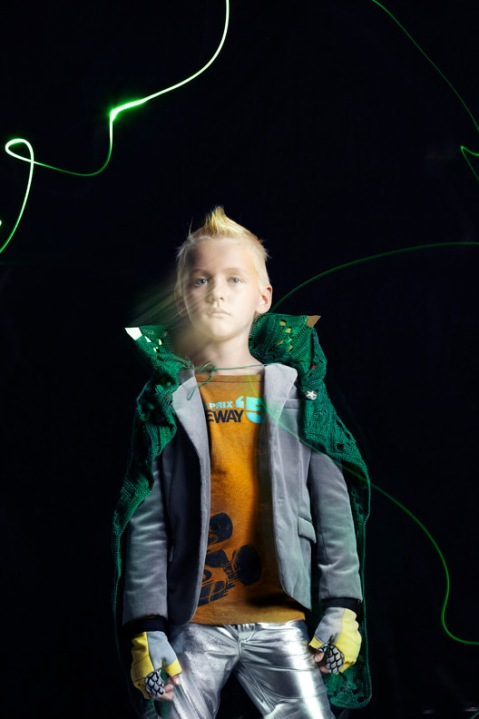 Luca as Green Hornet, children's fashion story by Mindi Smith and Drew Sackheim Oct 2011