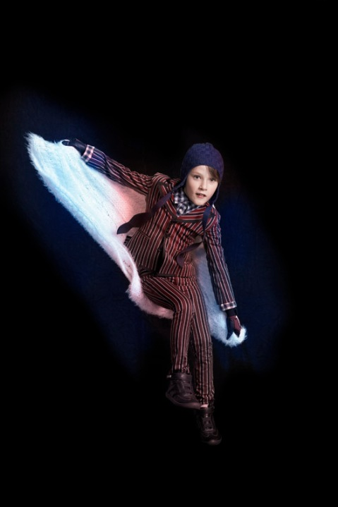 Julian as Spiderman, children's fashion story by Mindi Smith and Drew Sackheim Oct 2011