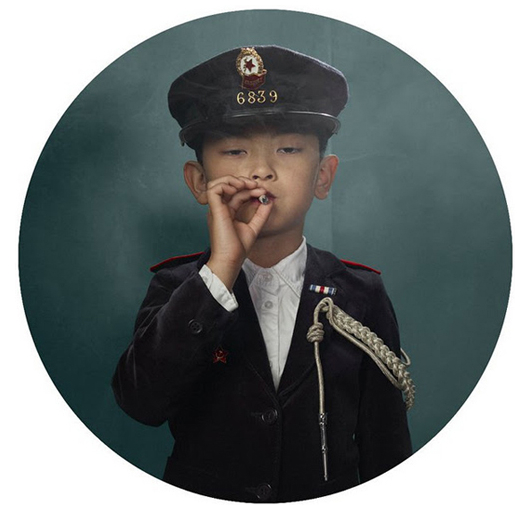 Photo series of children smoking by Frieke Janssens, Nov 2011
