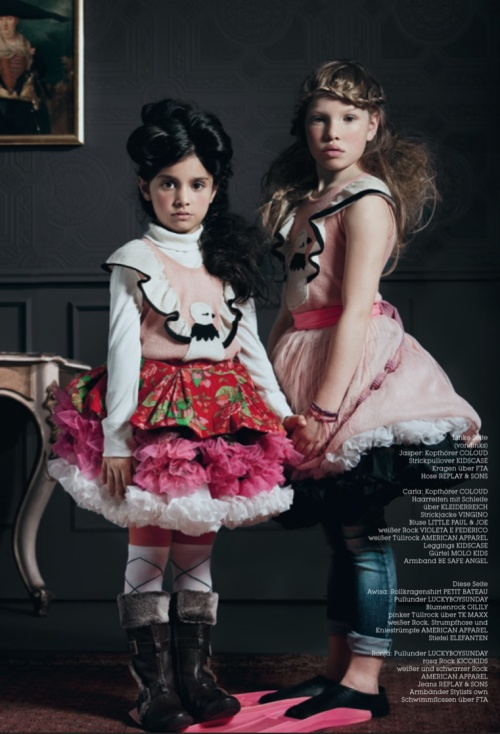 Wild hair and girls fashion for winter 2011 shot by Tamy Donnerstag for Luna Magazine