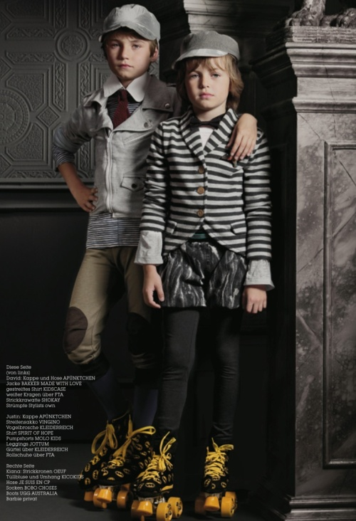 Boys winter 2011 fashion photographed by Tamy Donnerstag for Luna Magazine