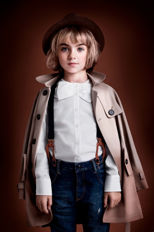 Ian Derry Androgeny 1 fashion from Burberry, winter 2012 children's fashion