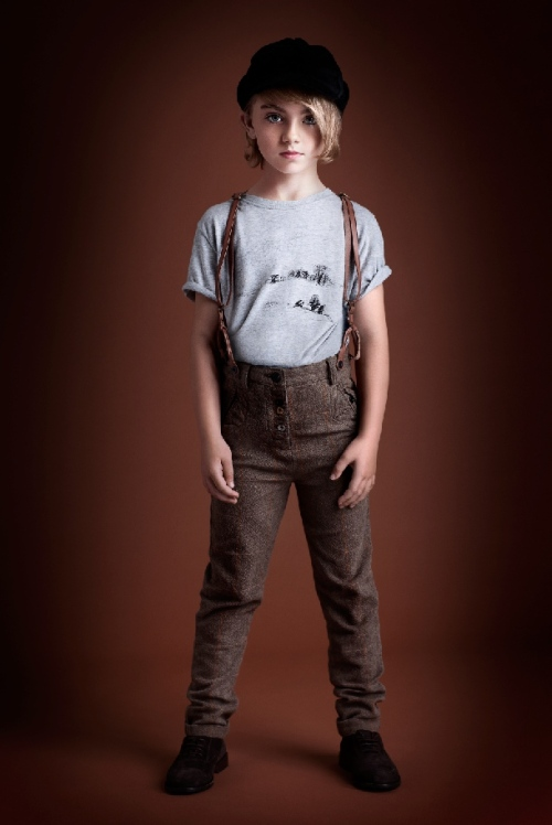 Ian Derry Androgeny children's fashion for winter 2011, trousers with braces from Scotch Shrunk