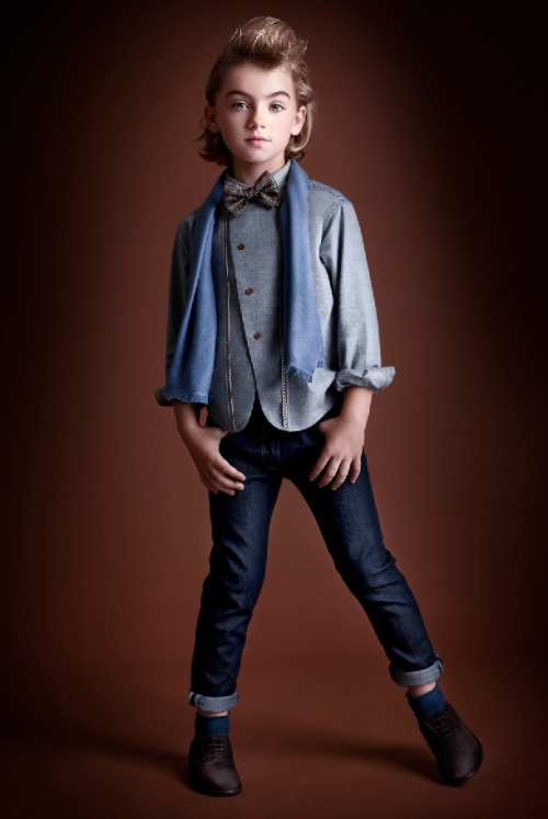 Ian Derry Androgeny kids fashion by stylist Kate Van Der Hage, model Nora at Urban Angels