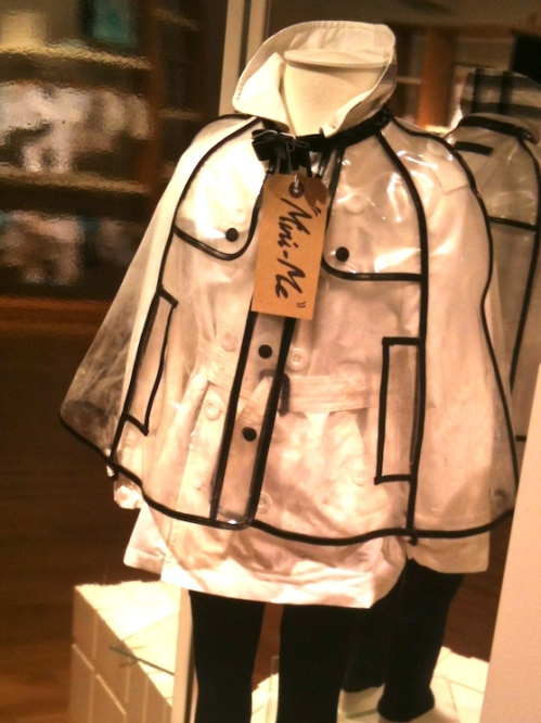 Burberry children's fashion for spring 2012 with Mini Me crop rainjacket