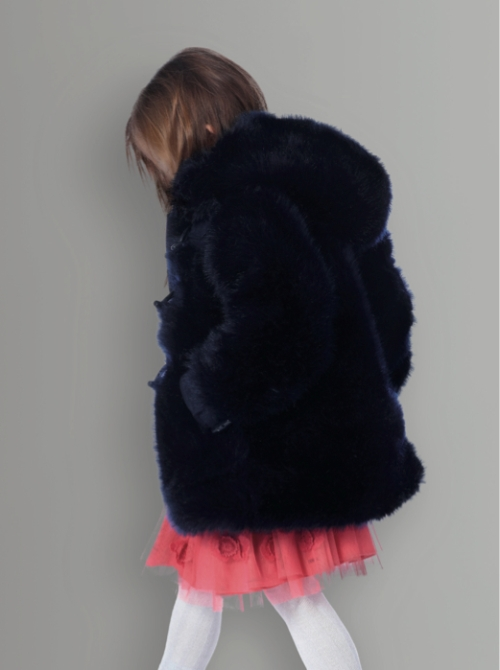 Little Marc Jacobs winter 2012 kidswear preview, chunky fake fur and net lined dress