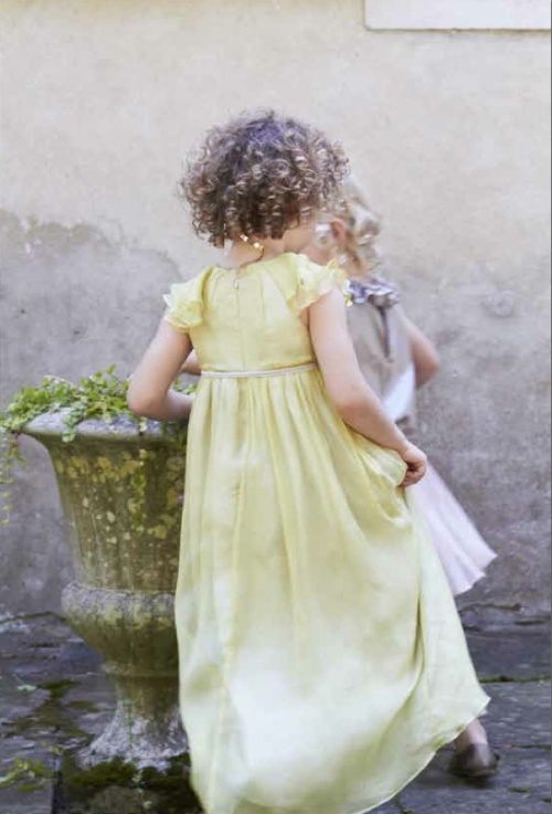 Marie Chantal summer full length party and event dress for girls