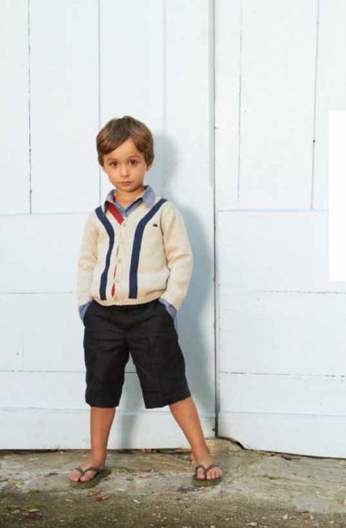 Retro classic cardigan for boyswear at Marie Chantal summer 2012