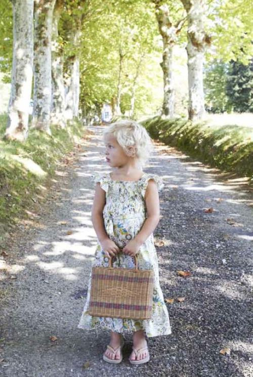 Marie Chantal high summer 2012 sweet floral long dress for girls