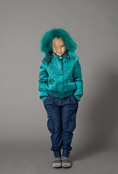 Miss Blumarine Jeans satin bomber jacket for girlswear