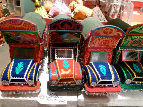 Fantastic tin lorry's from Pakistan at Far and Few