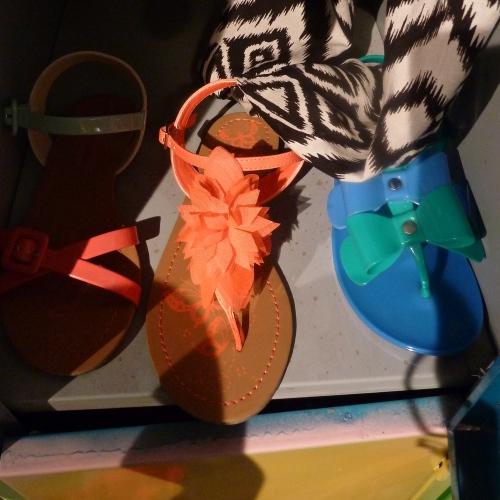 Great summer kids sandals in vibrant orange at Debenhams summer 2012