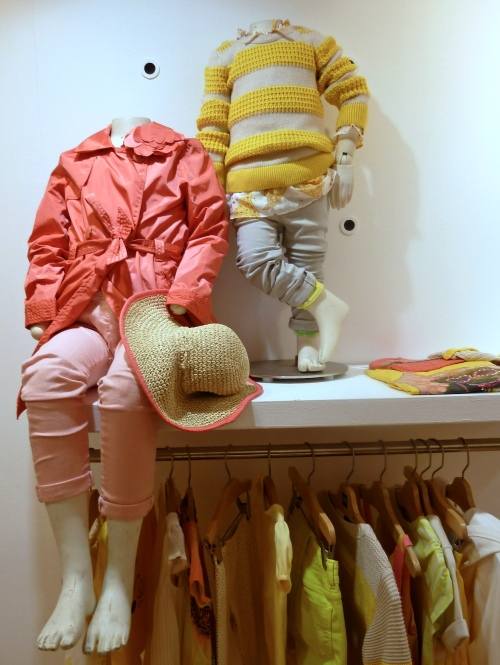 Coral and strong yellow tones for children's fashion at Gapkids spring 2012